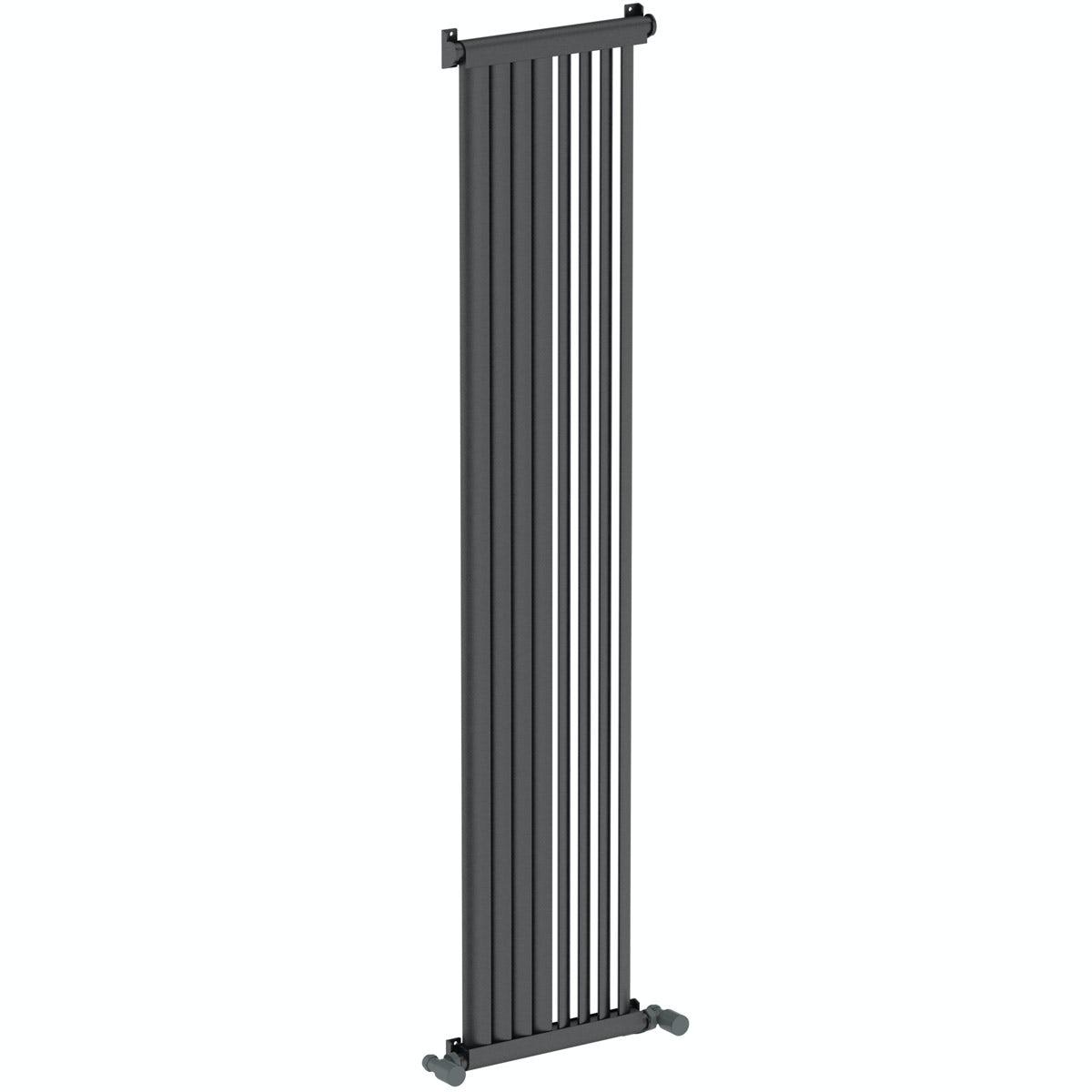 Mode Zephyra anthracite vertical radiator 1500 x 328