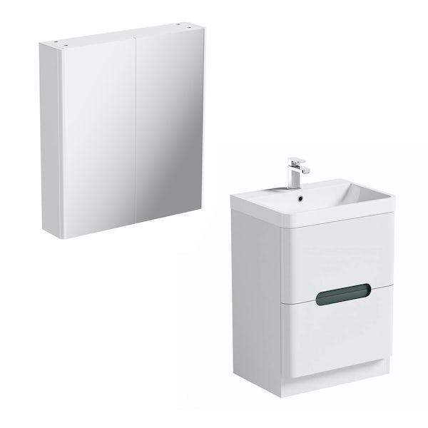 Mode Ellis slate vanity unit 600mm and mirror cabinet offer