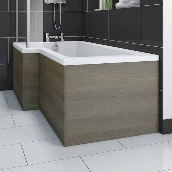 Boston Walnut Shower Bath End Panel
