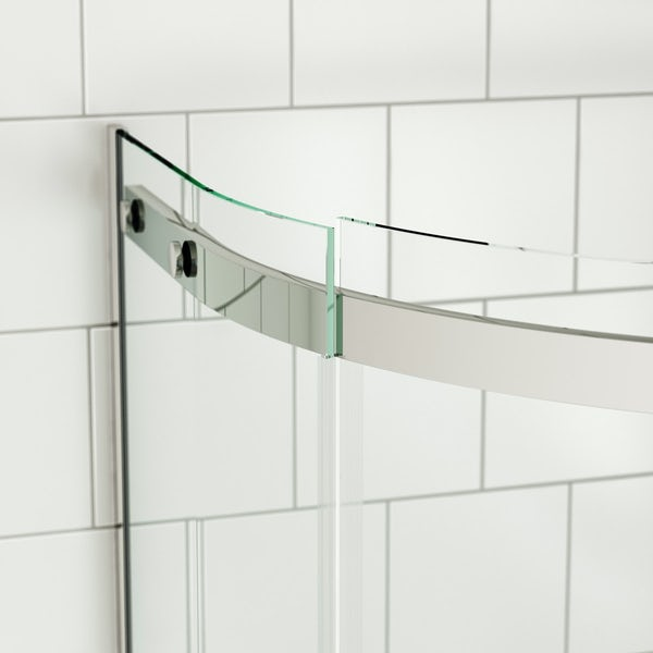 Mode Harrison 8mm right handed offset quadrant shower enclosure 900 x 760