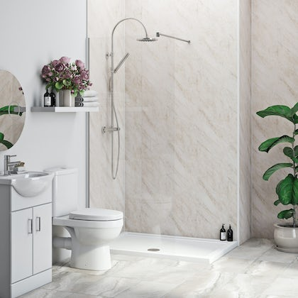 Multipanel Economy Byzantine Marble shower wall 2 panel pack