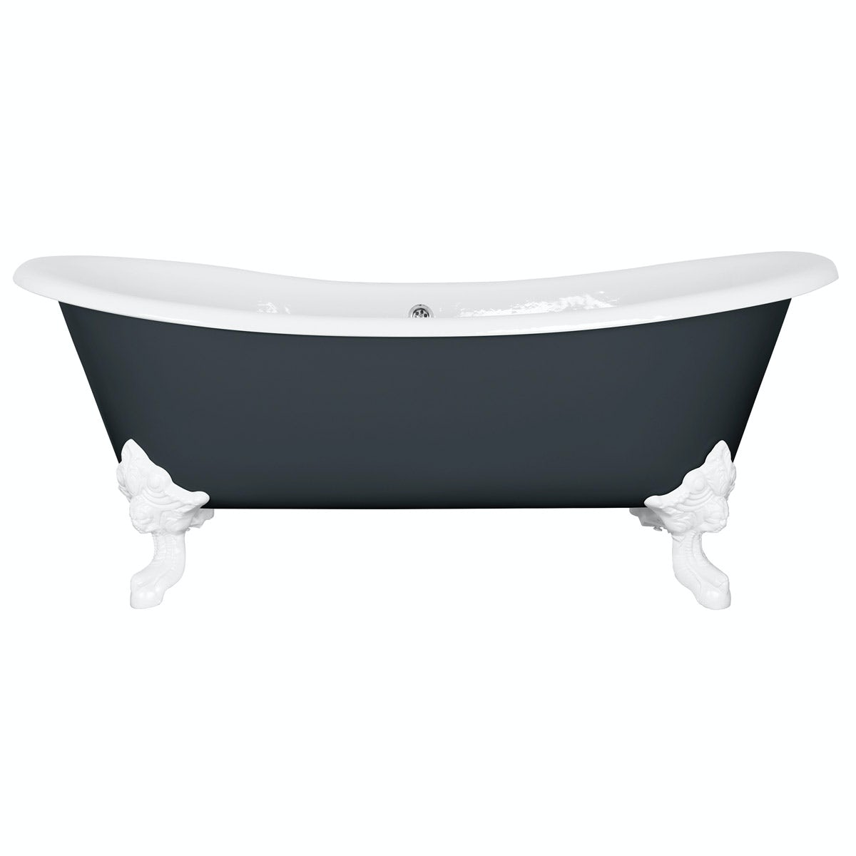 The Bath Co. Dover province blue cast iron bath