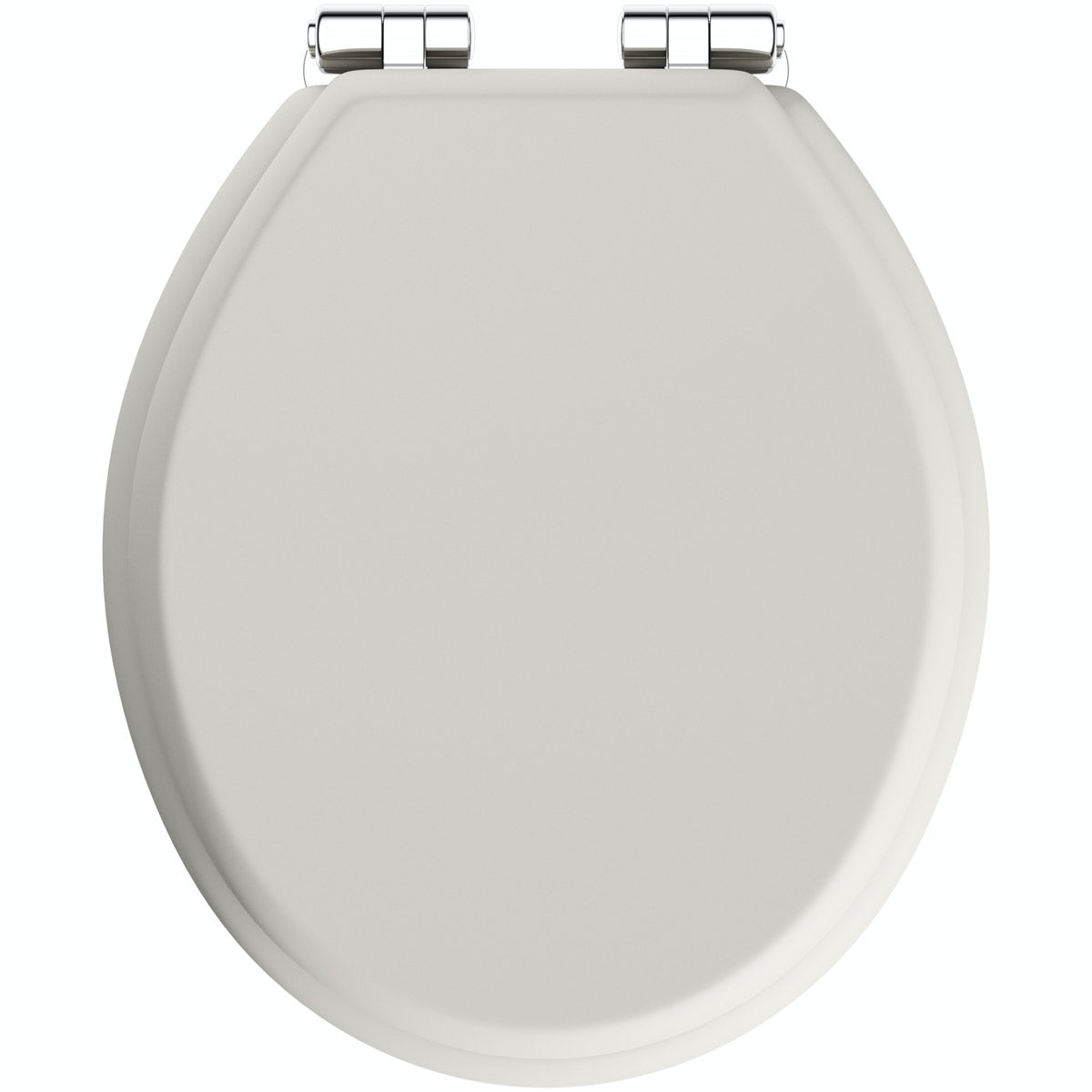 The Bath Co. traditional Camberley ivory engineered wood toilet seat with top fixing soft close hinge