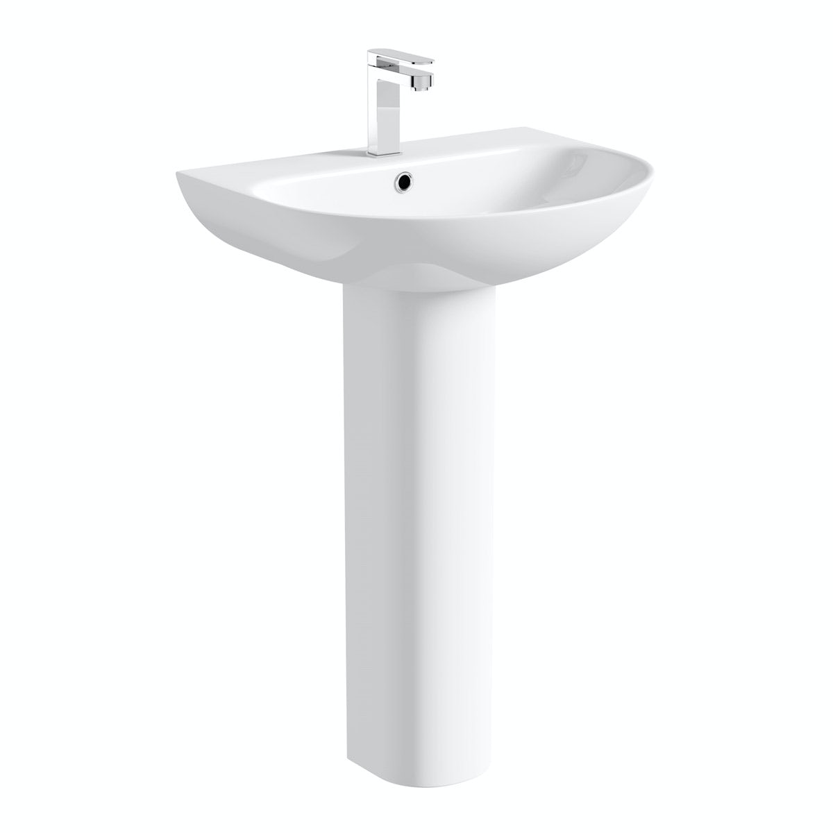 Mode Hardy full pedestal basin 555mm with waste
