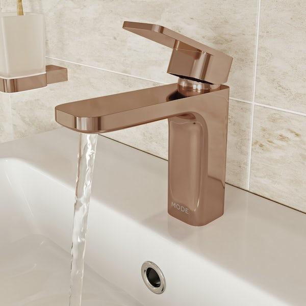 Mode Spencer square rose gold basin mixer tap