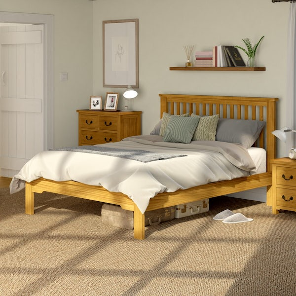Rome Reclaimed Pine King Size Bed