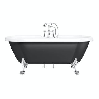 Dulwich Black Roll Top Bath with Dragon Feet