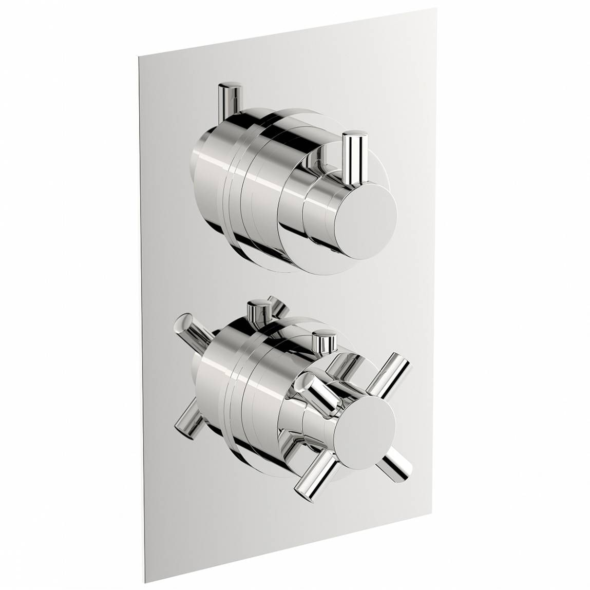 Mode Alexa square twin thermostatic shower valve with diverter