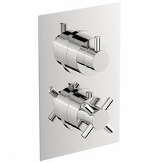 Image of Alexa Square Twin Valve with Diverter