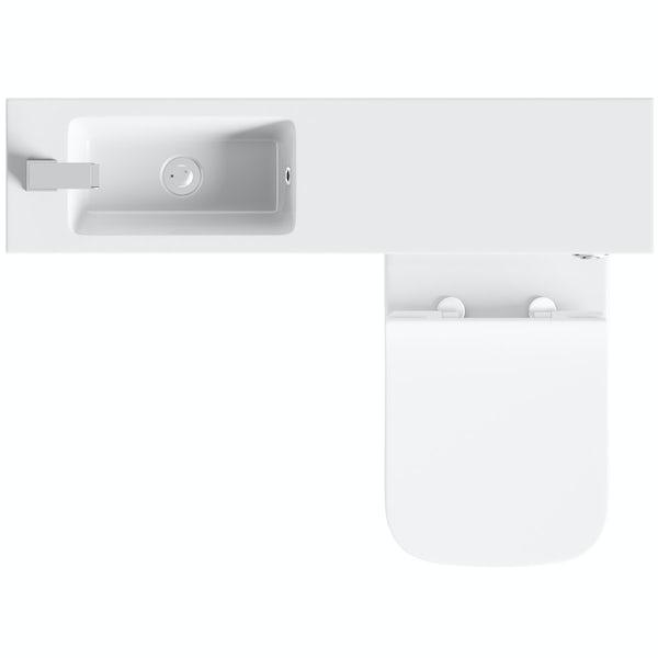 Mode MySpace Slim white combination with contemporary square toilet