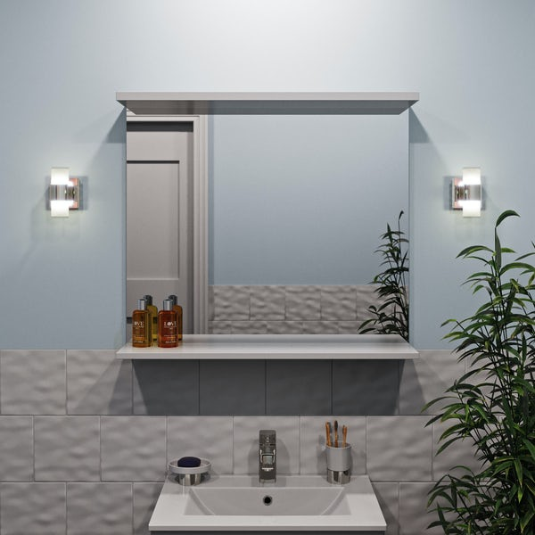 Forum Oriona crackle 2 light bathroom wall light
