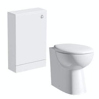 Orchard Derwent white slimline back to wall unit and Clarity toilet with seat