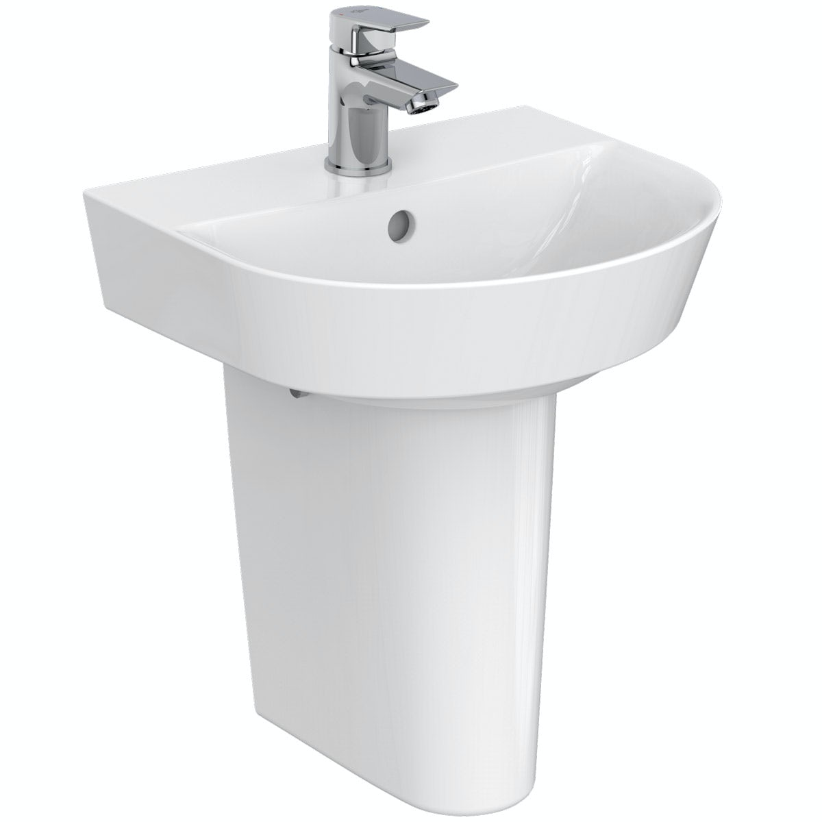 Ideal Standard Concept Air Arc 1 tap hole semi pedestal basin 400mm