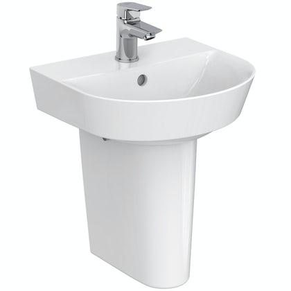 Ideal Standard Concept Air Arc 1 tap hole semi pedestal basin 400mm