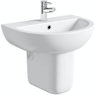 Elena 550 1TH Basin and Semi Pedestal