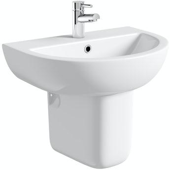 Elena 1 tap hole semi pedestal basin