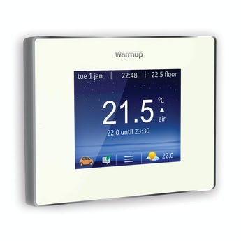 Warmup 4iE wifi heating controller bright porcelain