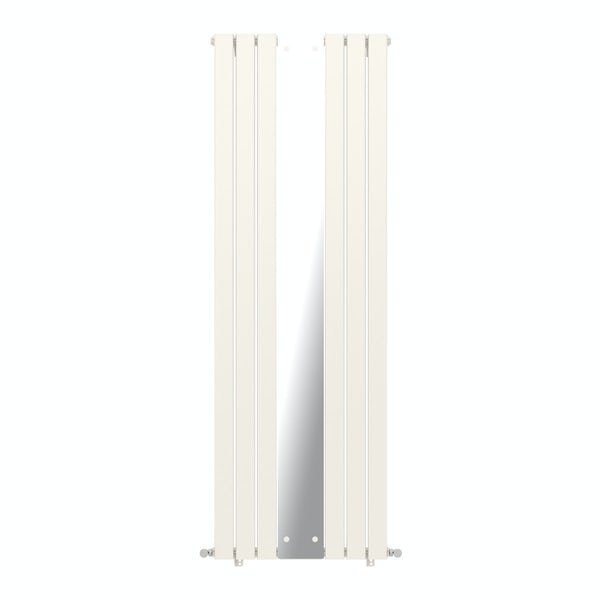Mode Ellis white vertical radiator with mirror 1840 x 620 offer pack