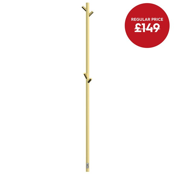 Mode Foster gold electric heated towel pole