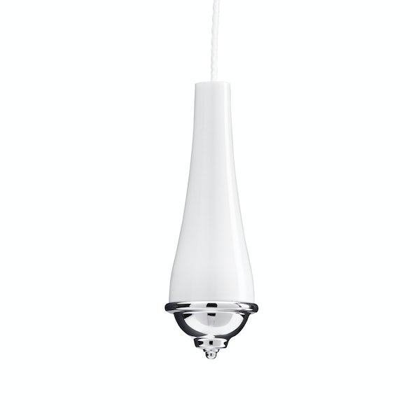 Croydex classic ceramic light pull