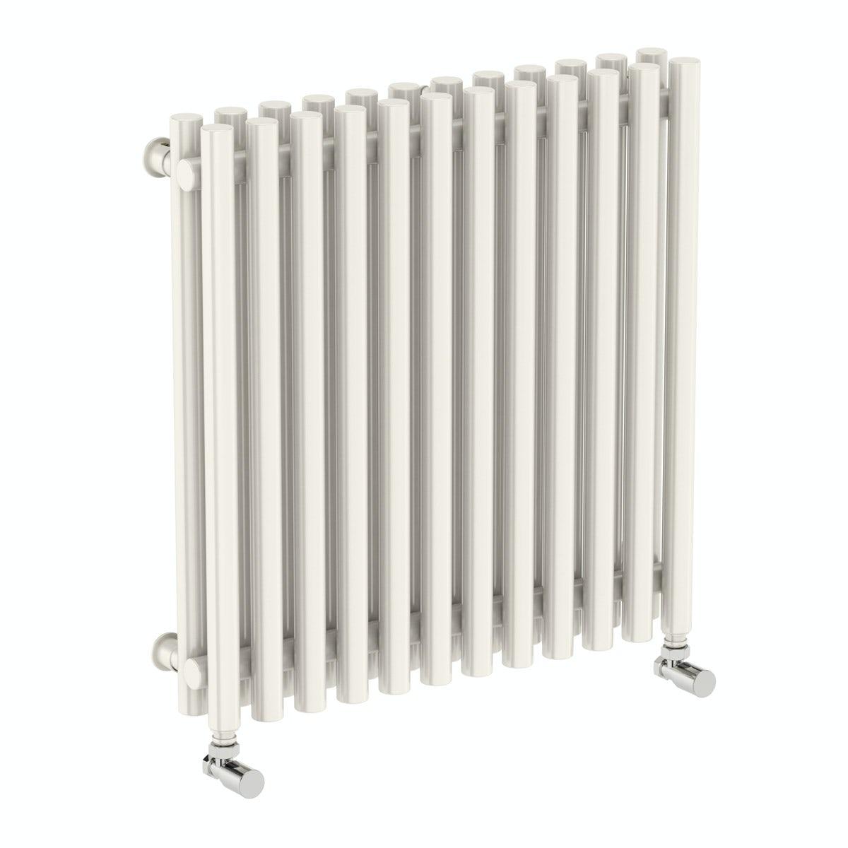 Terma Tune soft white double horizontal radiator 600 x 590