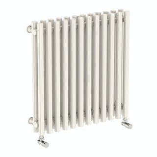 Tune soft white double horizontal radiator 600 x 590