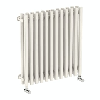 Terma Tune soft white double horizontal radiator 600 x 590