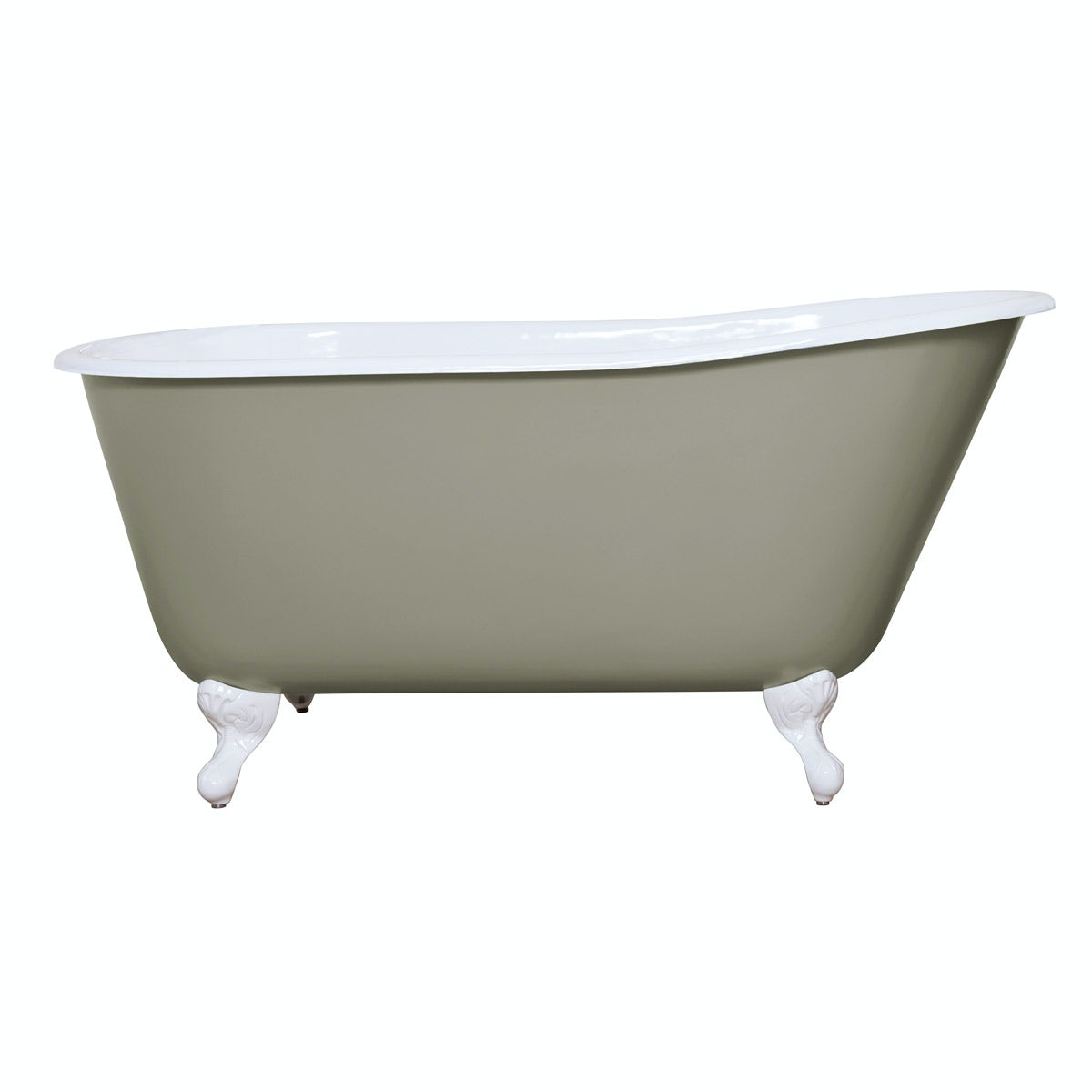 The Bath Co. Warwick misted green cast iron bath