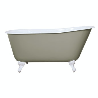 The Bath Co. Warwick misted green cast iron bath