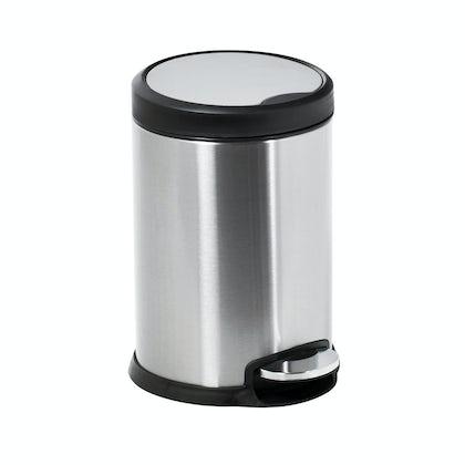 Showerdrape Aero stainless steel satin 3lt pedal bin
