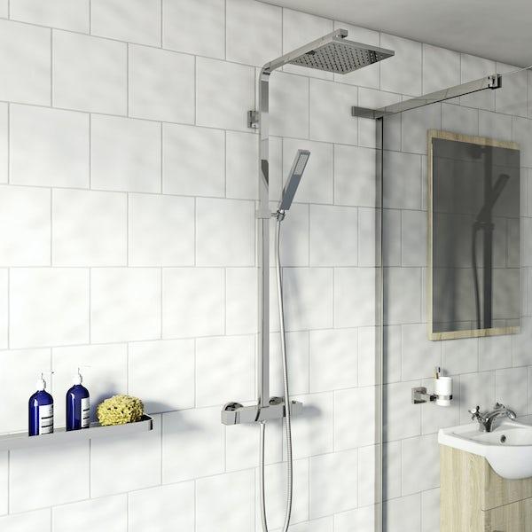 Tetra Square Head Shower Riser System