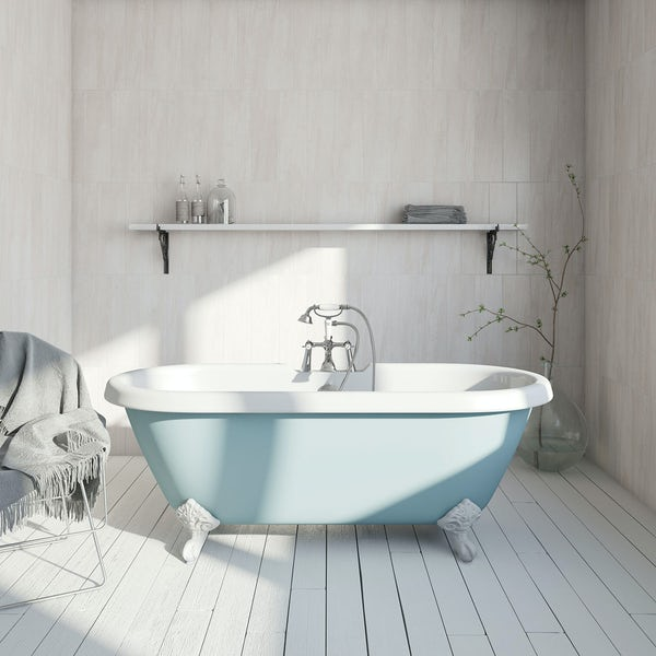 The Bath Co. Dulwich Bluebell coloured bath