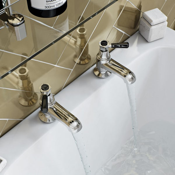 The Bath Co. Beaumont lever bath pillar taps