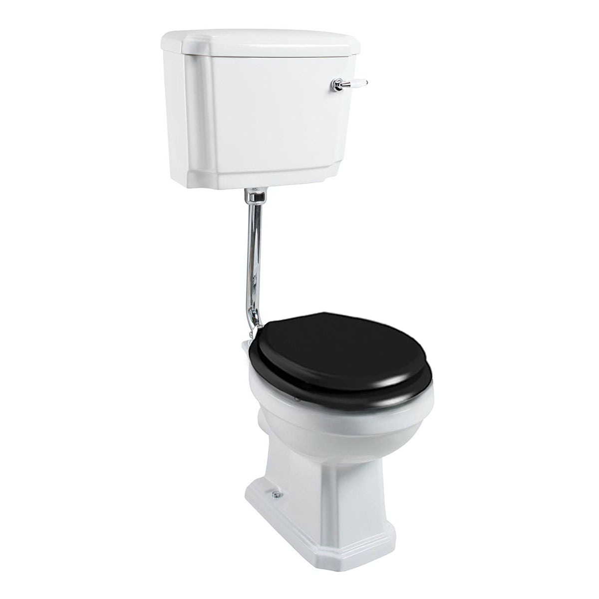The Bath Co. Cromford low level toilet inc black soft close seat