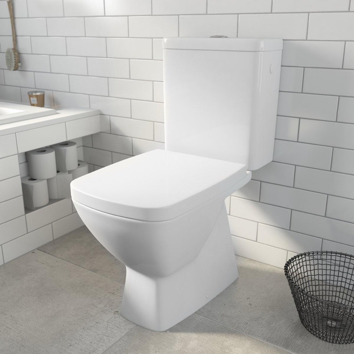 Verso Close Coupled Toilet inc. Seat