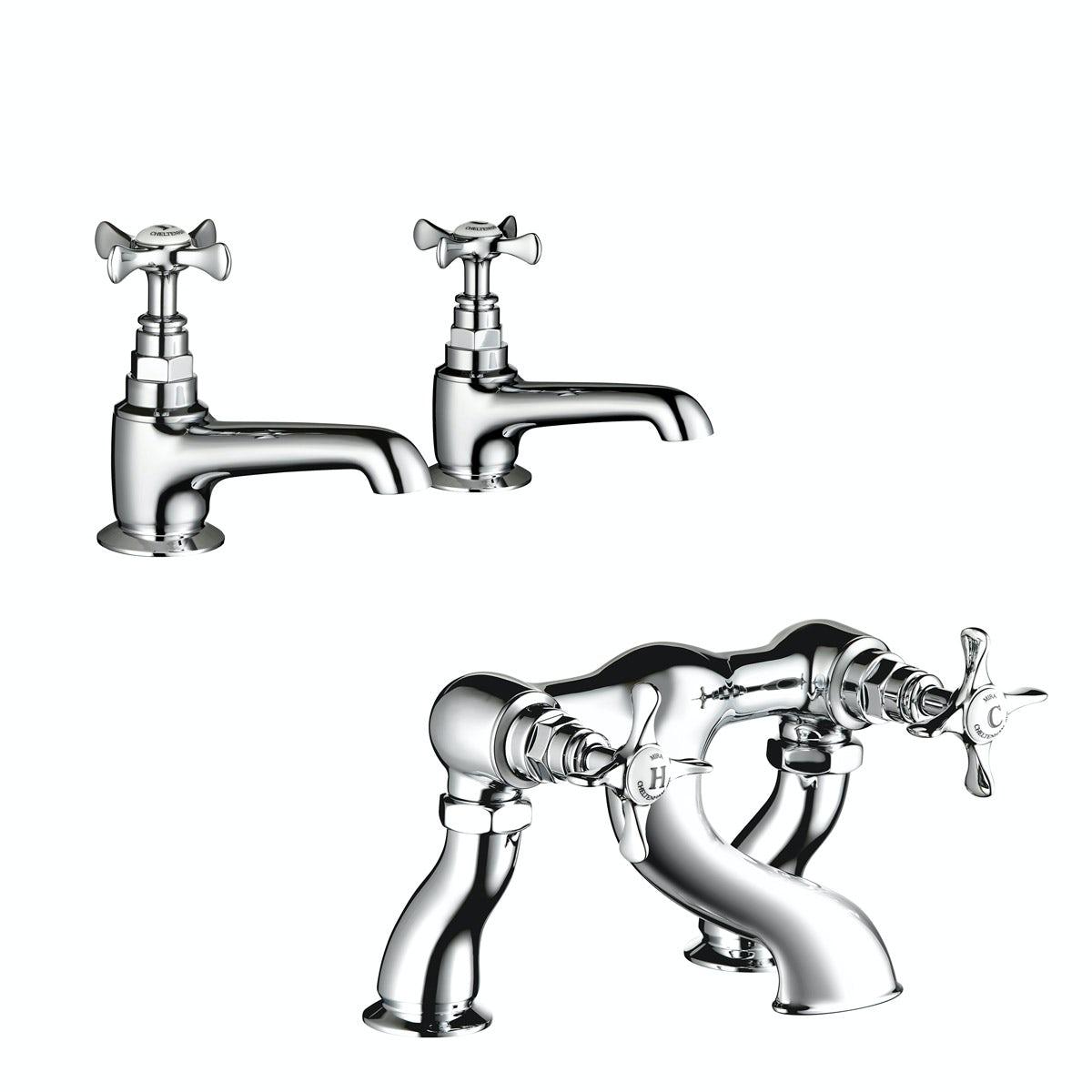 Mira Virtue basin tap and bath mixer tap pack