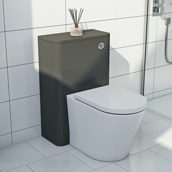 Mode Carter slate back to wall toilet unit