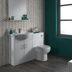 Sienna white combination unit with Autograph back to wall toilet 1040mm