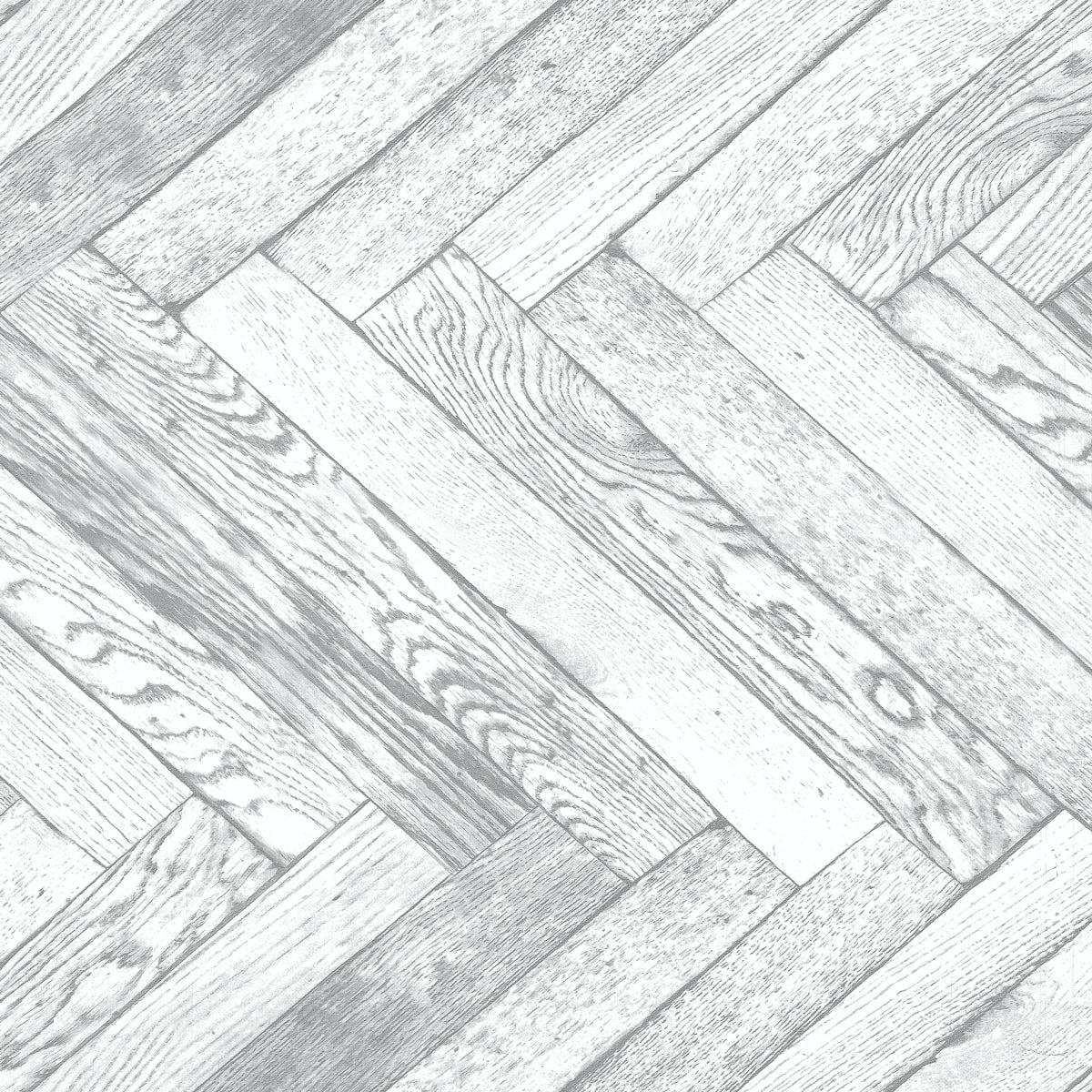 Distinctive 4 Parquet Wood - White