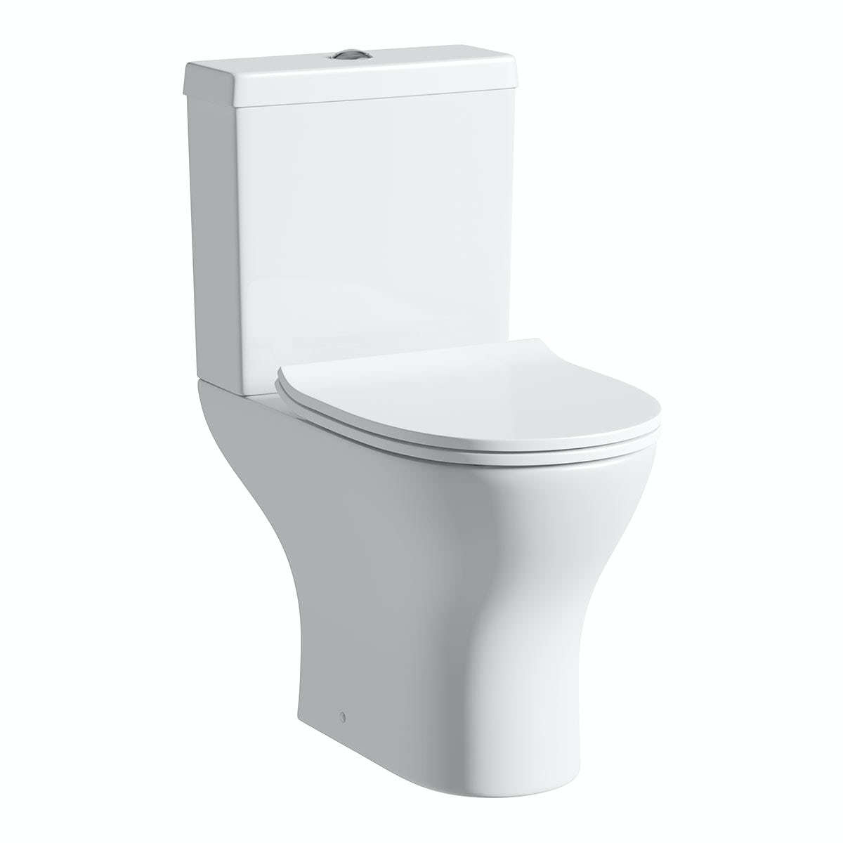 Orchard Derwent round compact close coupled toilet with luxury soft close seat with pan connector