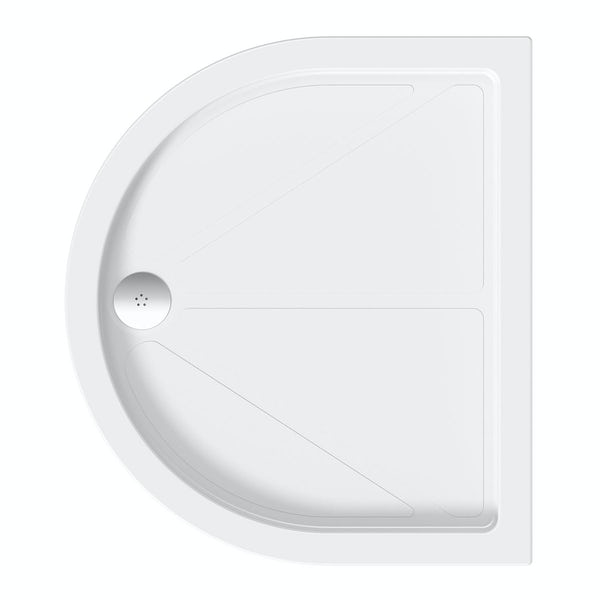 D Shaped Stone Shower Tray