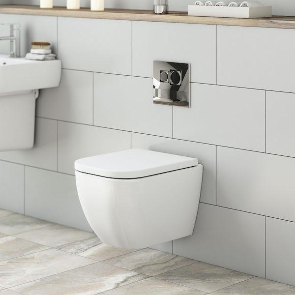 Positano wall hung toilet inc soft close seat