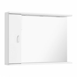 Granada white bathroom mirror with lights 1050mm
