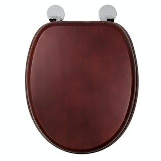 Croydex Davos mahogany flexi fix toilet seat