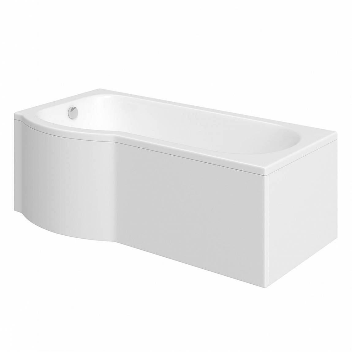 Bathroom sink dimensions mm - P Shaped Left Handed Shower Bath 1500 X 800