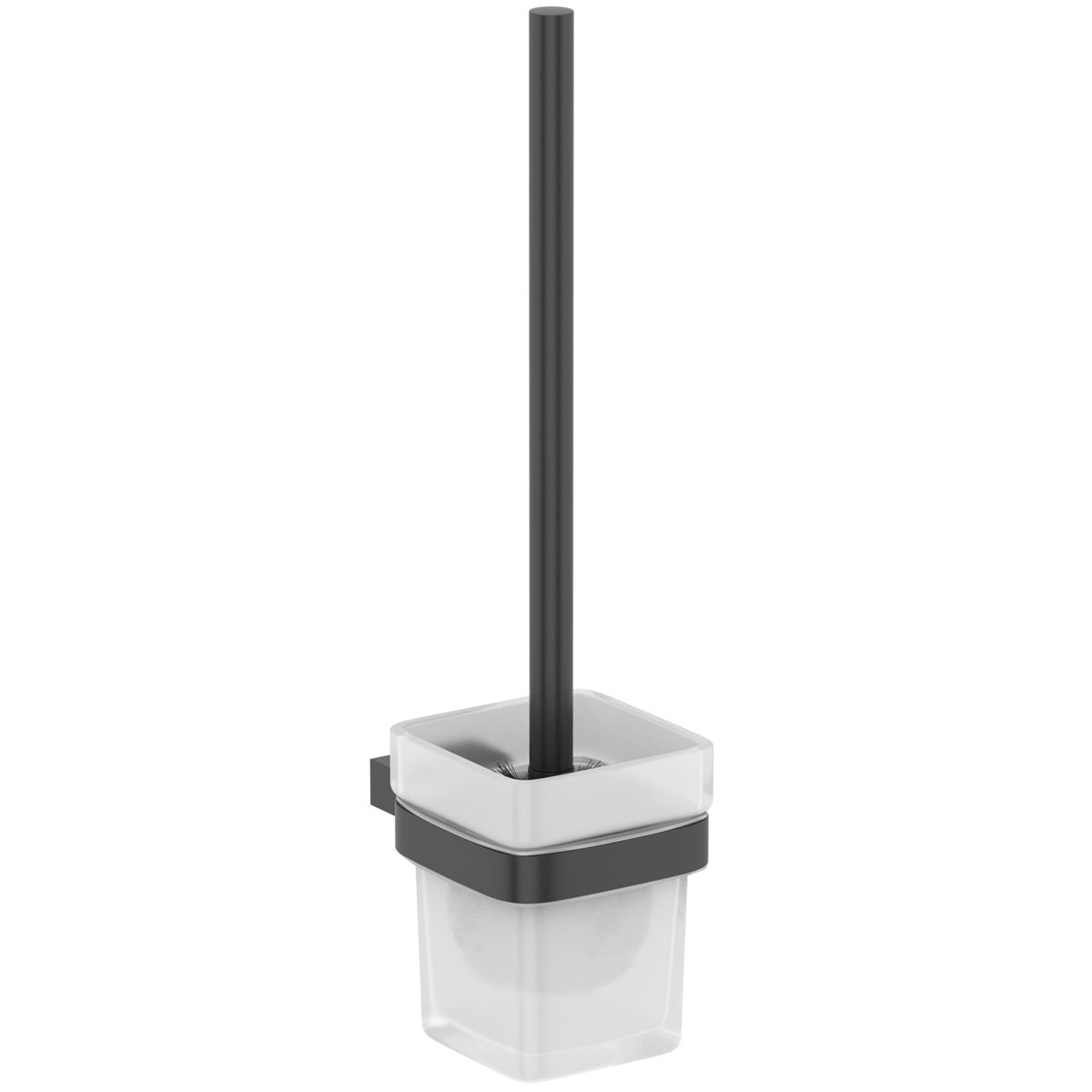 Mode Spencer black toilet brush and holder