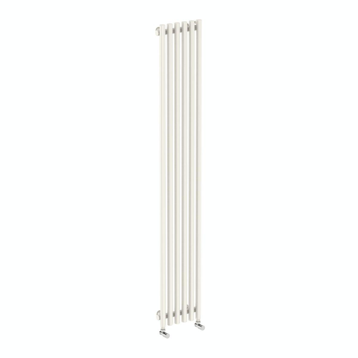 Terma Tune soft white single vertical radiator 1800 x 290