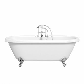 Shakespeare Roll Top Bath Small with Ball Feet