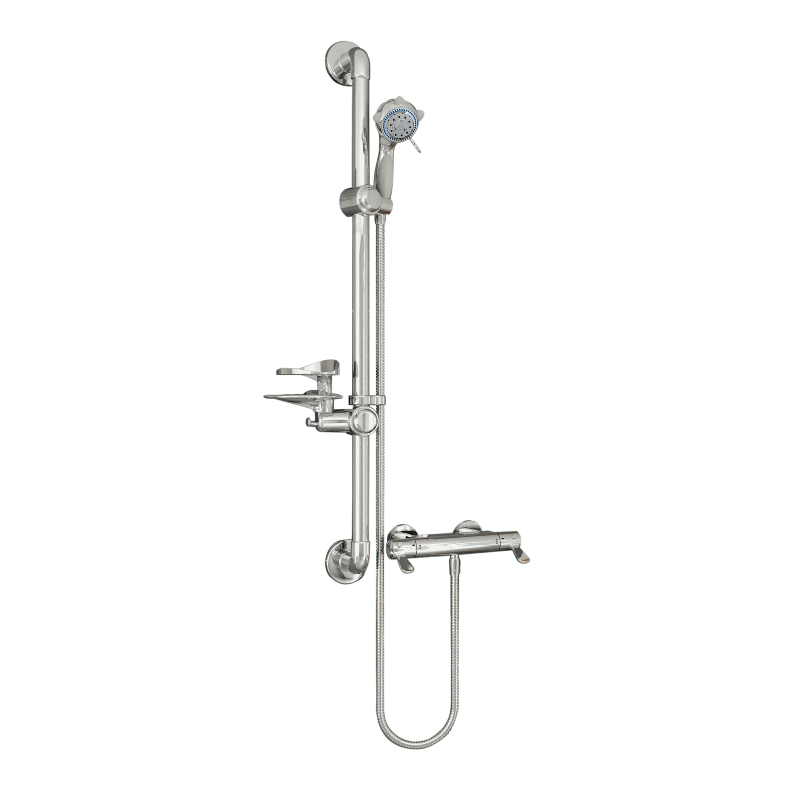 arm twin head mode bathroom mixer rain taps switch handheld bar itm button shower set spray rail
