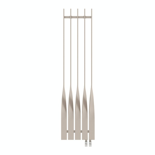 Cyklon oyster grey vertical radiator 1600 x 410